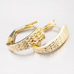 Náušnice ze zlata s facetami 42-31937