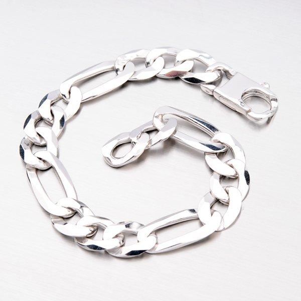 Stříbrné figaro 3+1 920043-XK-SLX