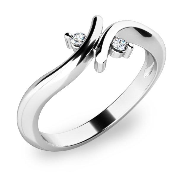 Prsten s diamanty 10850-B