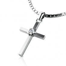 Zlatý kříž s diamantem 10872-B