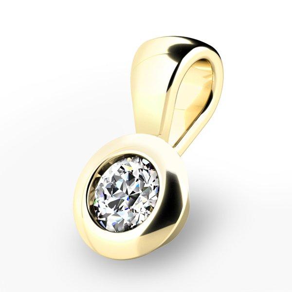 Zlatý přívěsek s diamantem 10826-ZL