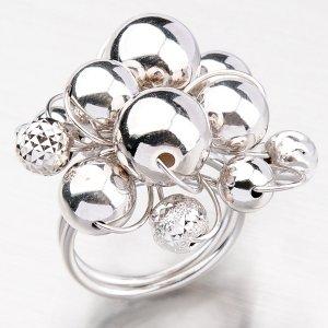 Stříbrný prsten z kuliček YNG1002