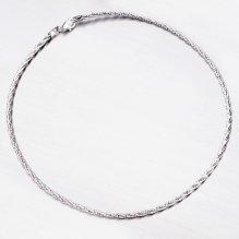 Kroucený stříbrný náhrdelník CHRS-SPRING-OM13L-TW-130-RET