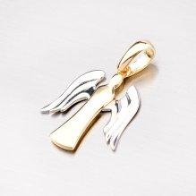Zlatý přívěsek ve tvaru andělíčka 43-2608
