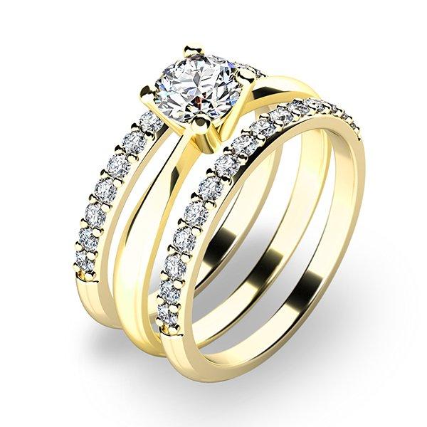 Set zásnubních prstenů ve žlutém zlatě 10770-SET02-ZZ