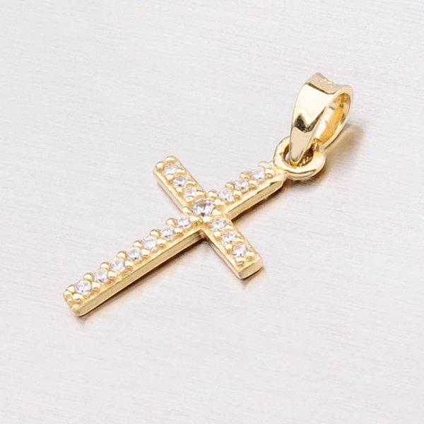 Zlatý přívěsek ve tvaru křížku 13-141