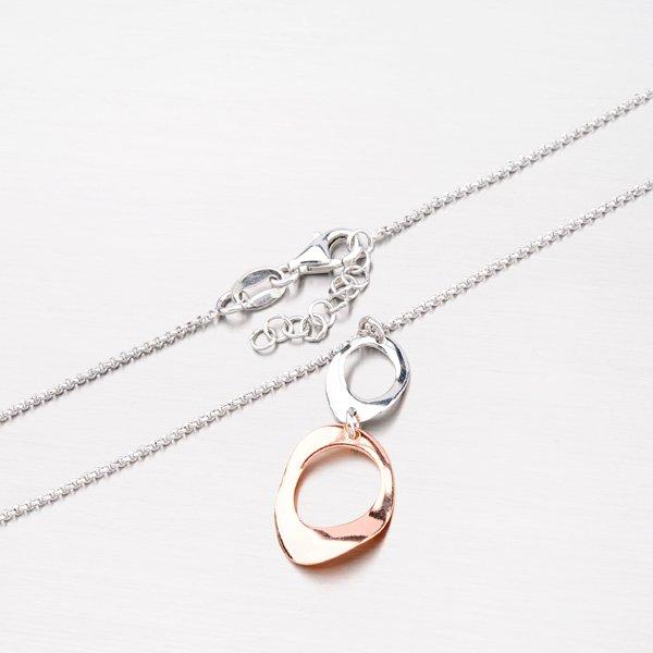 Stříbrný náhrdelník s pozlacenou ozdobou N1401581-0331-SLX