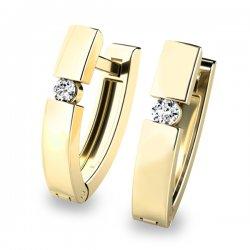 Dámské diamantové náušnice 10834-ZL