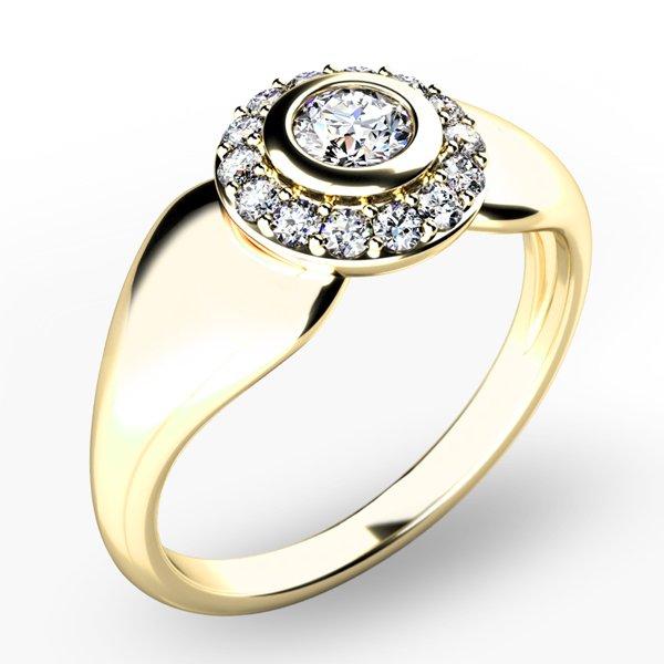 Briliantový prsten 10898-ZL