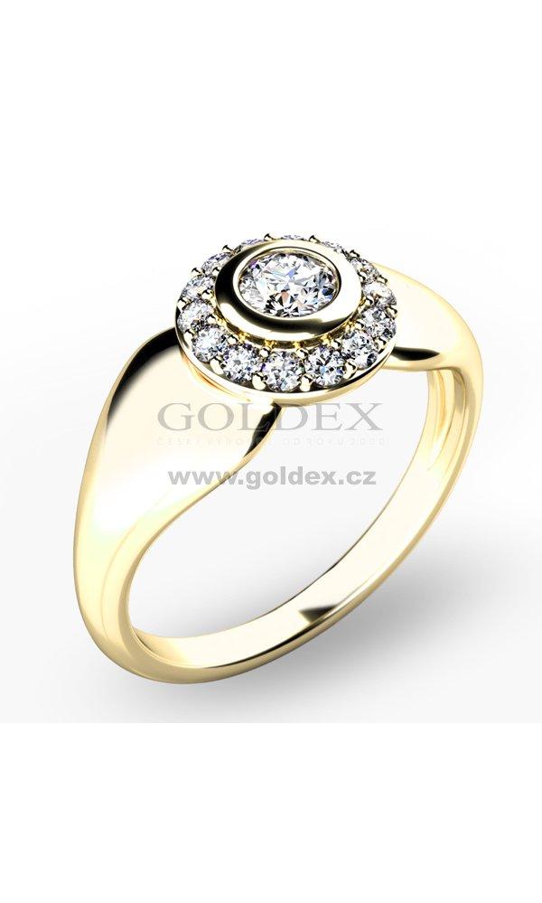 Briliantovy Prsten 10898 Zl Goldex Cz