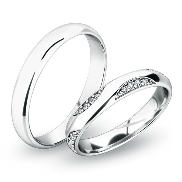 Snubní prsteny z bílého zlata SP-61050