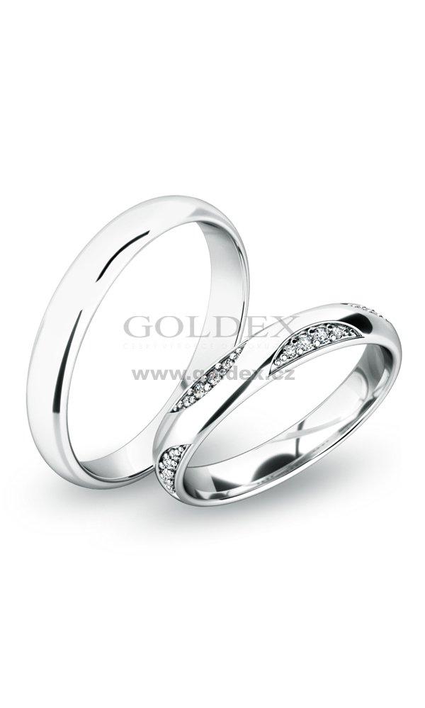 Snubni Prsteny Z Bileho Zlata Sp 61050 Goldex Cz