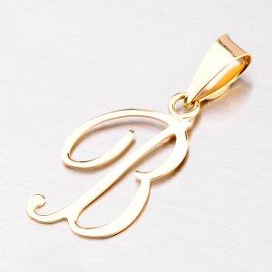Přívěsek - zlaté písmenko B 43-2937-B