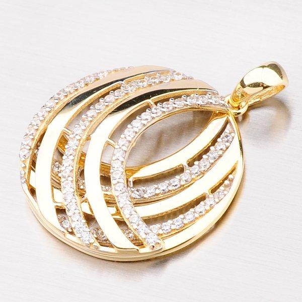 Zlatý přívěsek ve tvaru kruhu 43-21464