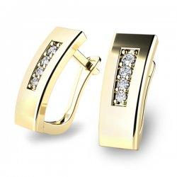 Dámské diamantové náušnice 10860-ZL
