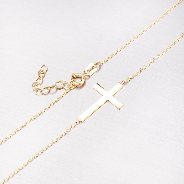 Zlatý náhrdelník s křížkem 45-1760