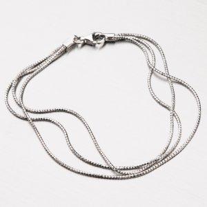 Stříbrný náhrdelník SNAKE CHRS-13-RDIS16-3F
