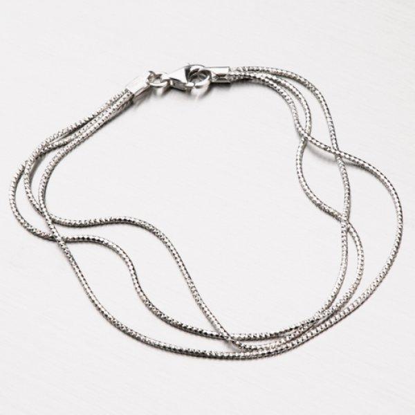Stříbrný náhrdelník SNAKE CHRS-13-RDIS16-3F-RET