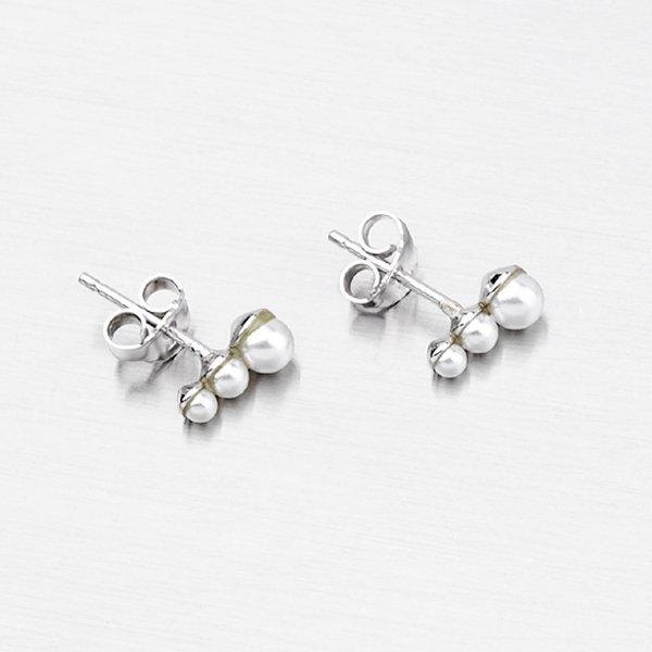 Stříbrné náušnice s perlami 9146D4-3-2