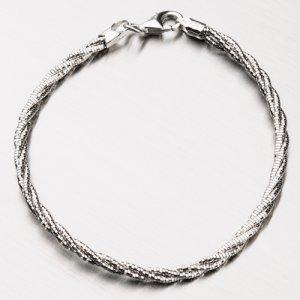 Kroucený stříbrný náramek CHRS-SPRING-OM13L-TW-130-NAR