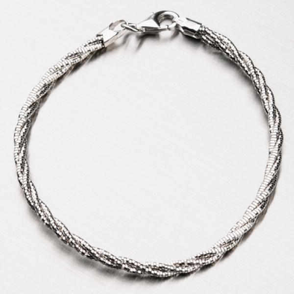 Kroucený stříbrný náramek CHRS-SPRING-OM13L-TW-130