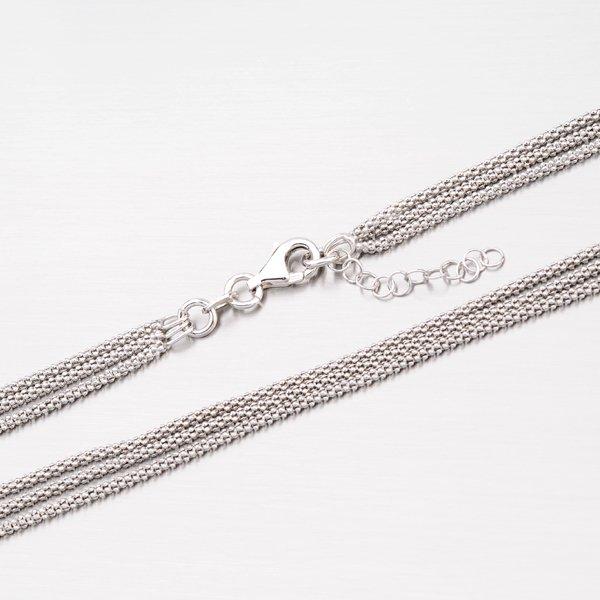 Trojitý stříbrný náhrdelník N1300519-1264-SLX