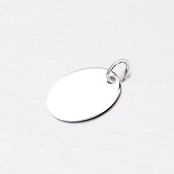 Stříbrný oválný přívěsek MPN8453M