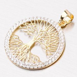 Zlatý přívěsek strom života 43-21482