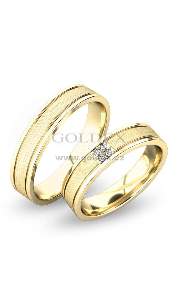 Snubni Prsteny Z Bileho Zlata Sp 61055b Goldex Cz