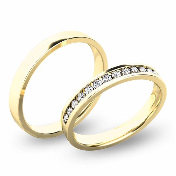 Snubní prsteny ze žlutého zlata SP-61049Z