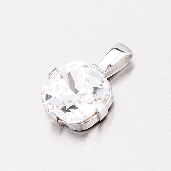 Přívěsek s bílým krystalem D157B-JK