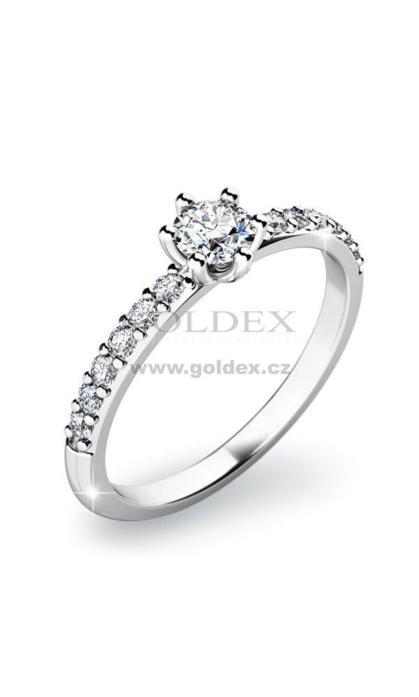 Diamantovy Prsten 10896 Goldex Cz