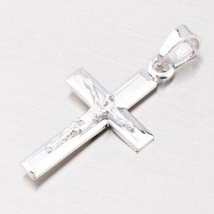 Stříbrný křížek s Ježíšem a částečnou matnou povrchovou úpravou 92003043-15-SLX