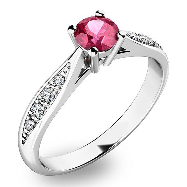 Krásný prsten s turmalínem a diamanty 10745B-TUR