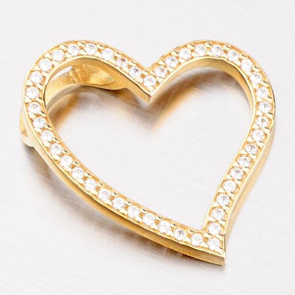 Zlatý přívěsek ve tvaru srdce 13-156
