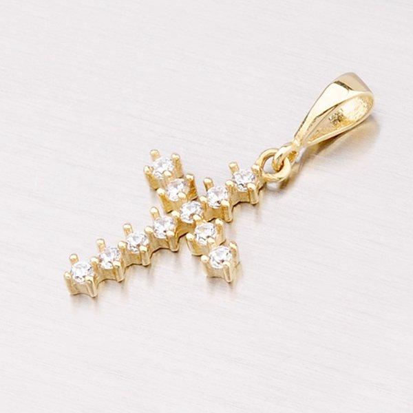 Zlatý křížek se zirkony 13-142