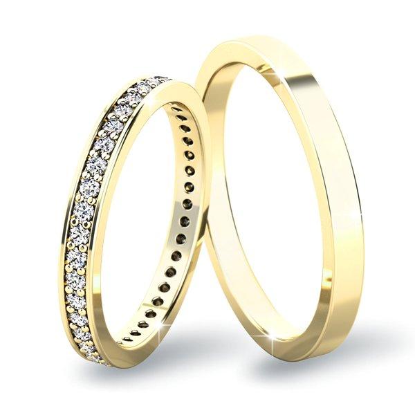 Snubní prsteny ze žlutého zlata SP-61044Z