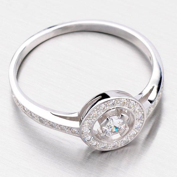 Krásný kruhový prsten ze zlata DZ1990-B