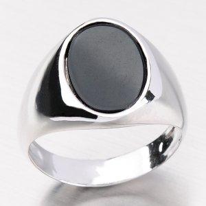 Stříbrný prsten s onyxem R1504360-0080-SLX