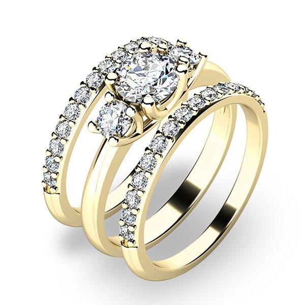 Set zásnubních prstenů ze žlutého zlata 10803-SET02-ZZ