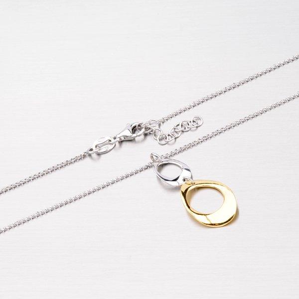 Stříbrný náhrdelník s pozlacenou ozdobou N1401582-0331-SLX