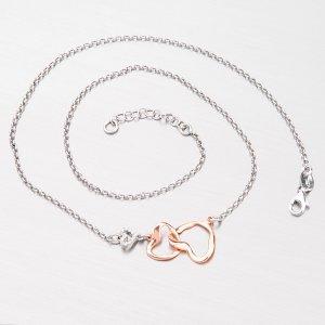 Stříbrný náhrdelník se srdíčky N1500317-0331-SLX