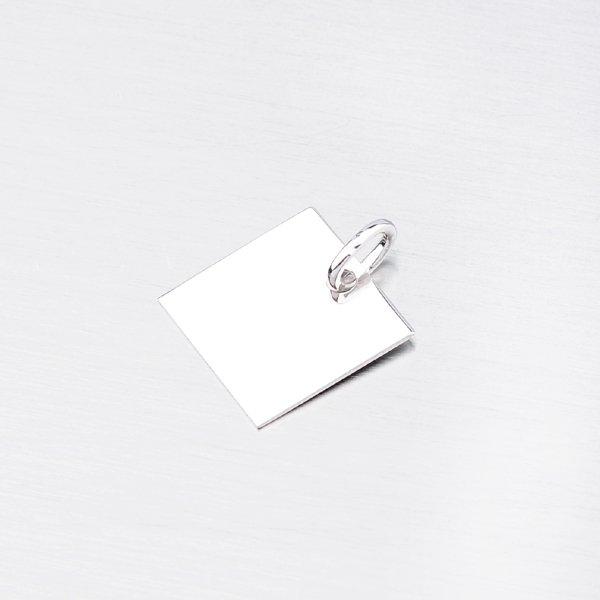 Stříbrný přívěsek ve tvaru čtverce MPN8453G