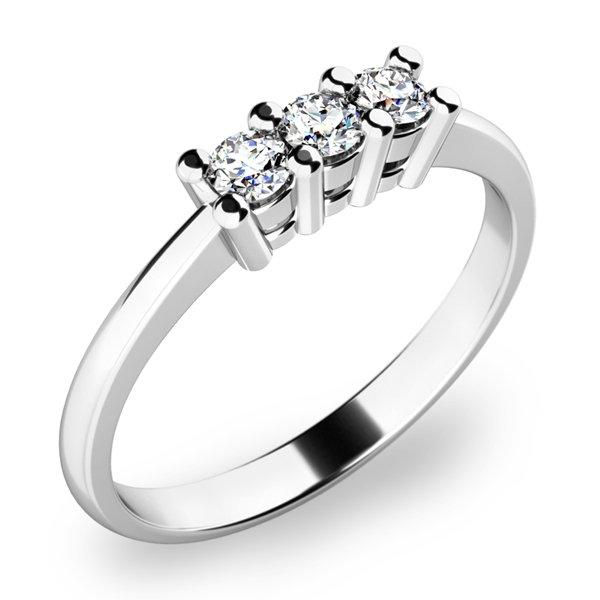Zásnubní prsten s diamanty ZP-10848D