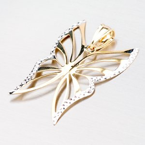 Zlatý motýlek s gravírováním 43-2487