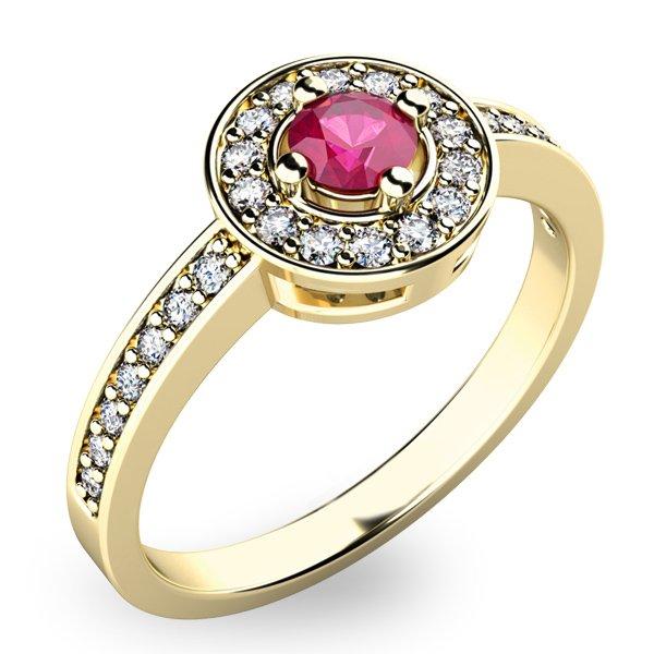 Krásný prsten s turmalínem a diamanty 10802Z-TUR