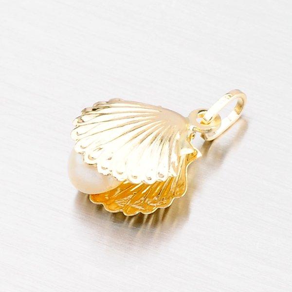 Zlatý přívěsek škeble s perlou 43-21278