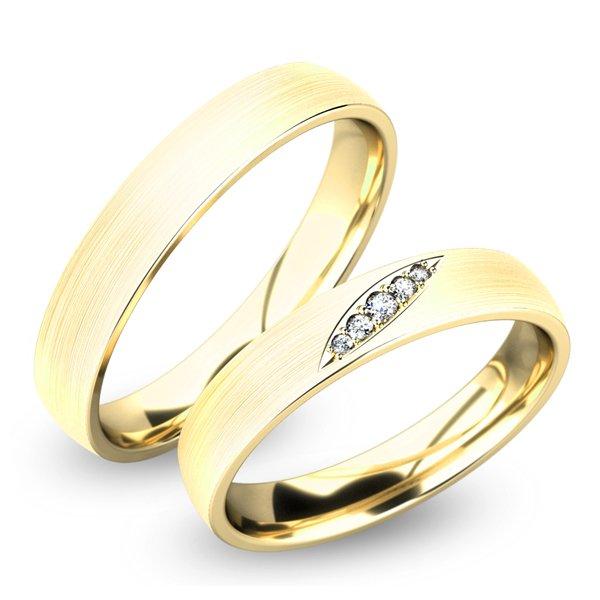 Snubní prsteny zlaté SP-61038Z