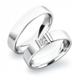 Snubní prsteny ze stříbra SP-61022-Ag