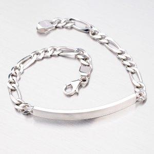 Náramek ze stříbra Figaro 3+1 B1300459-0011-SLX